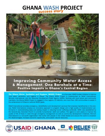 Ghana WASH Project Success Story - Relief International