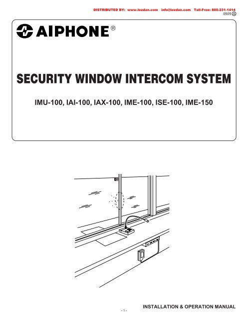 AIPHONE Security Window Intercom System Instructions - Lee ... on residential intercom, antique intercom, viking intercom, color coding intercom, m&s intercom, lee dan intercom, tektone intercom,