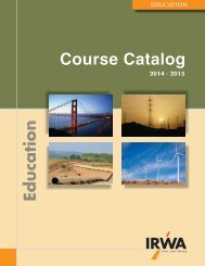IRWA's Digital Course Catalog - International Right of Way Association