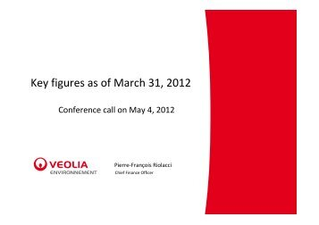 Key figures as of March 31, 2012 - Veolia Finance - Veolia ...