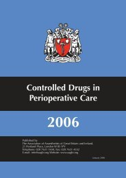 Controlled Drugs in Perioperative Care - aagbi
