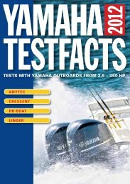 tests with yamaha outboards from 2,5 - Yamaha Motor Europe