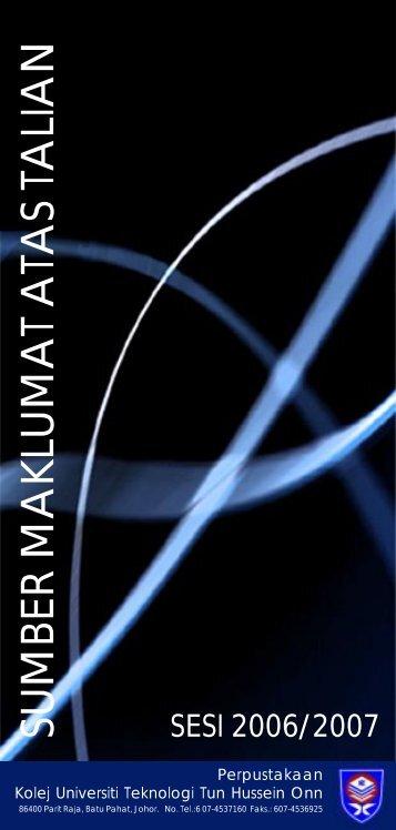 SUMBER MAKLUMAT ATAS TALIAN - UTHM Library