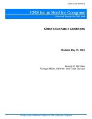 China's Economic Conditions [Updated May 15, 2006]