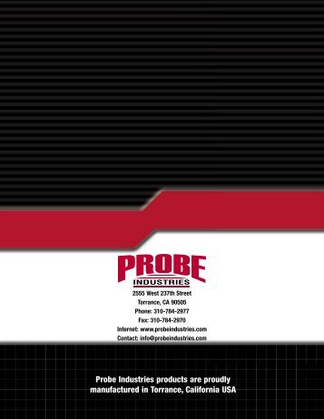 Probe Industries products are proudly manufactured in - Survival ...
