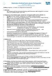 Schlaganfall Arztbrief - NeuroKopfZentrum