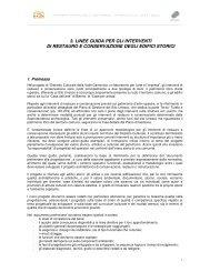 3. linee guida per gli interventi di restauro e conservazione degli