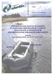 aplinkosaugos sąlygų plaukioti plaukiojimo priemonėmis ... - Vanduo