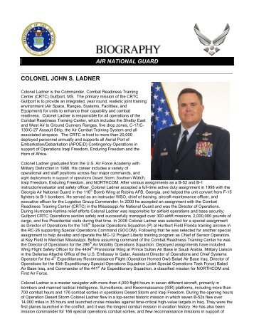 biography - Mississippi National Guard