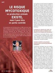 LE RISQUE MYCOTOXIQUE EXISTE,