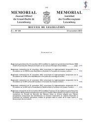 Règlement grand-ducal du 15 novembre 2012 modifiant le ... - Legilux