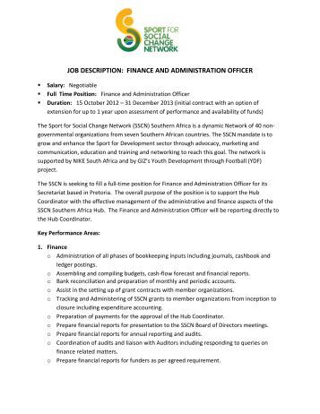 Hr officer job description walker books - Job description for administrative officer ...