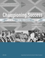 a report on the progress of tribal college and university alumni