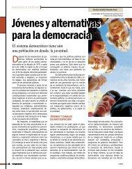 Jóvenes y alternativas para la democracia - Revista Perspectiva