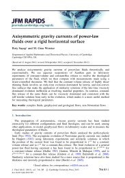 Axisymmetric gravity currents of power-law fluids over a rigid ...
