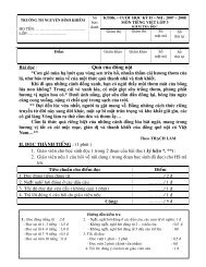 Đề kiểm tra cuối kỳ 2 lớp ba - Nguyễn Bỉnh Khiêm