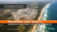 Preliminary Final Results Presentation (PDF - 1.4 MB) - Leighton ...