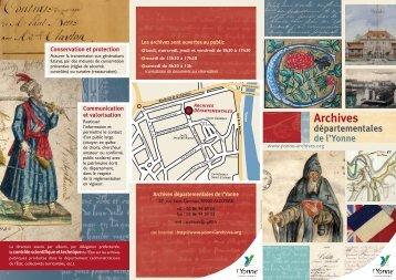 Plaquette de présentation des archives départementales - 3,29 Mb