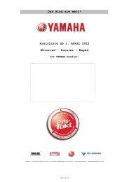 PTW VK Preisliste 2012 per ab 2012-04-01 - Yamaha Motor Europe