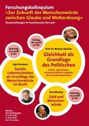 Prof. Dr. Michael Opielka, Ingo Krampen, Paul ... - Ursache Zukunft