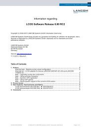 Information regarding LCOS Software Release 8.80 RC2 - LANCOM ...