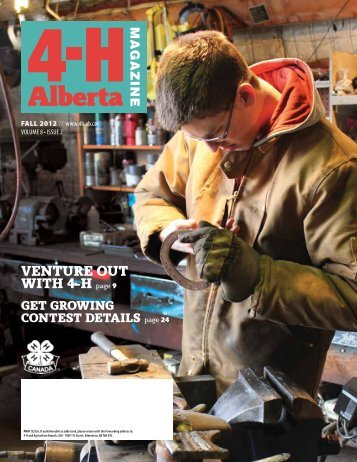 4-H Alberta Magazine Fall 2012 - Agriculture and Rural ...