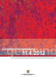 Rechnung 2011 - Gemeinde Wollerau
