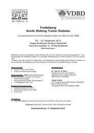 Fortbildung Nordic Walking Trainer Diabetes - Arbeitsgemeinschaft ...
