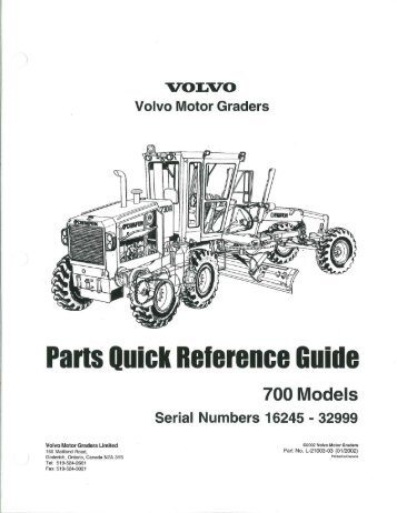 Parts Quick Reference Guide