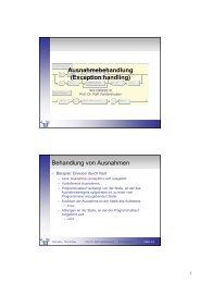 03_Exceptions [Kompatibilitätsmodus] - Telematik TH Wildau