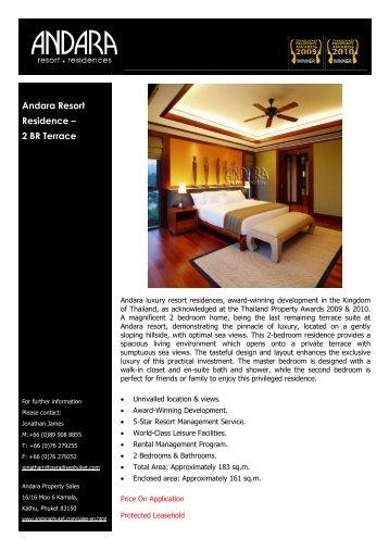 Andara Resort Residence – 2 BR Terrace - Andara Resort & Villas