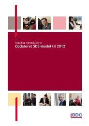 Opdateret SDE-model til 2012 - BDO