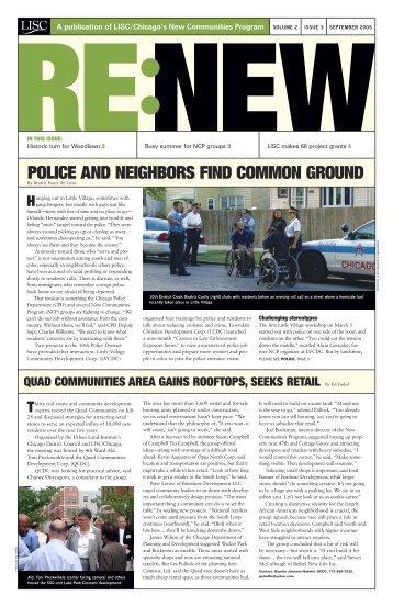 RENEW September 2005 Newsletter - New Communities Program