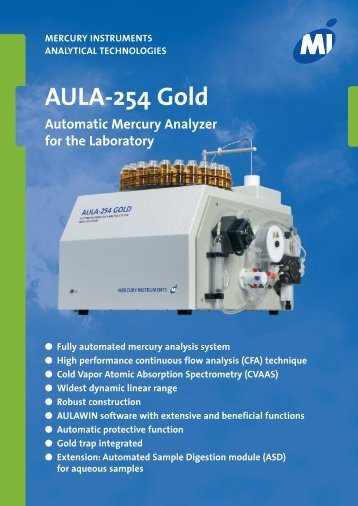 AULA-254 Gold - Mercury Instruments USA