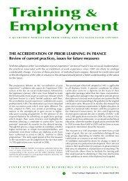 Training & Employment - Centre d'études et de recherches sur les ...
