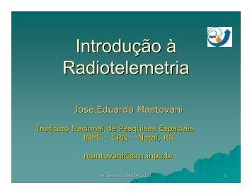 Introdução à Radiotelemetria - CRN - Inpe