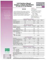 3.3V Surface Mount 3.2mm x 5.0mm Oscillators ... - Connor-Winfield