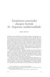 Zaraitzuera aztertzeko ekarpen berriak - Dialnet