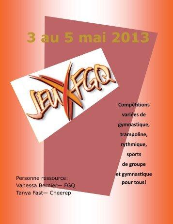 3 au 5 mai 2013