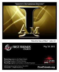 May 20, 2012 - First Friends Church