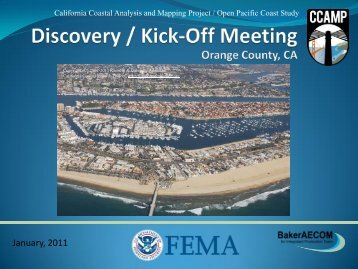Orange County Kick-Off Meeting Presentation - FEMA Region 9