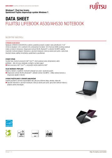 Data Sheet Fujitsu LiFEBOOK A530/AH530 ... - Hosting WEDOS
