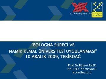 Slayt 1 - E-Universite - Namık Kemal Üniversitesi