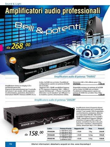 Amplificatori audio professionali - Futura Elettronica