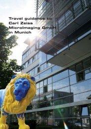 Travel guidance to Carl Zeiss MicroImaging GmbH in Munich