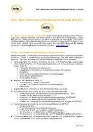 MFA-Kurzbeschreibung - MFA – Maintenance and Facility ...