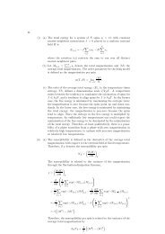 (a) The total energy for a system of N spins si = ±1 with constant ...