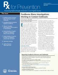Foodborne Illness Investigations - Department of Public Health - Los ...