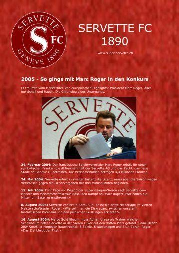 2005 - Es ist aus... - Super Servette