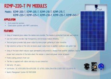 Модуль солнечный RZMP - ENF Solar Directory